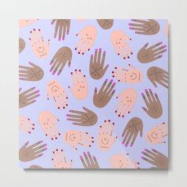 hands boucherouite Metal Print