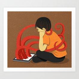 Squid kid Art Print