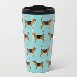 Bloodhound dog pattern dog breed custom gifts for dog lovers bloodhounds Travel Mug