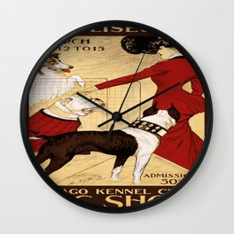 Vintage poster - Chicago Kennel Club's Dog Show Wall Clock