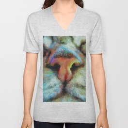"Drunk Girl Cats ""Nosey"" Must Boop this Nose! Unisex V-Neck"