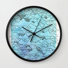 Cloudy Wall Clock