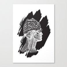 Wrong Brain Canvas Print