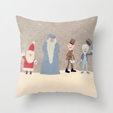 Claymation Lineup  Throw Pillow