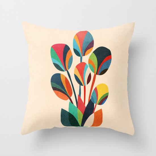 Ikebana - Geometric flower Throw Pillow