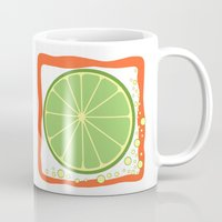 coasters Mugs featuring LIME by Tanya Pligina