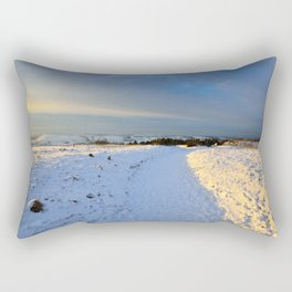 Lancashire Snow Scene Rectangular Pillow