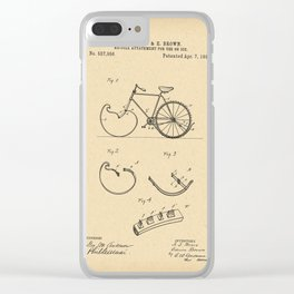 1896 Patent Bicycle attachment for use on ice Clear iPhone Case