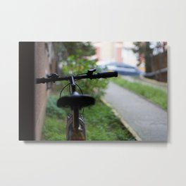 You can't buy happiness but you can buy a bike Metal Print