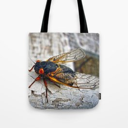 Red Eyed Cicada Tote Bag