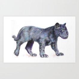 Just a cub Art Print