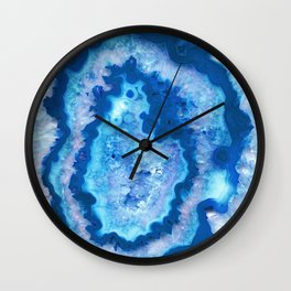 Agate Ocean Dream #1 #gem #decor #art #society6 Wall Clock