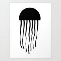 medusa Art Prints featuring Medusa by Kristijan D.