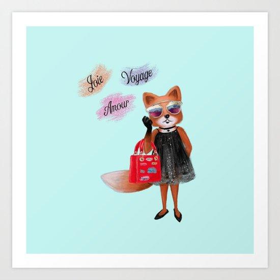 Fashion Fox Art Print