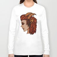 capricorn Long Sleeve T-shirts featuring Capricorn by redrockit