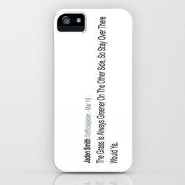 Deep Thought #2 iPhone Case
