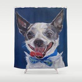 Chihuahua Dog Portrait Shower Curtain