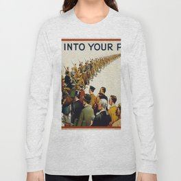 Vintage poster - Step into your place Long Sleeve T-shirt