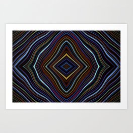 Wild Wavy Diamonds 30 Art Print
