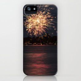 Fireworks Over Lake 10 iPhone Case