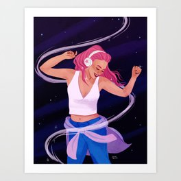 Late Night Jams Art Print