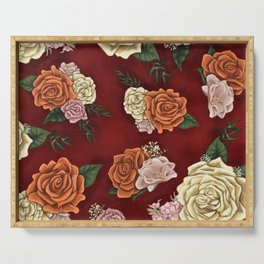 Red luxury flowers Serving Tray
