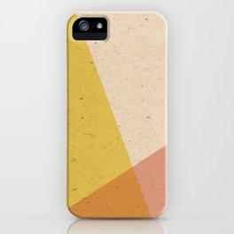 Minimalistic Geometric Intersection iPhone Case