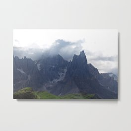 Alps Mountains Black Peaks Landscape Metal Print
