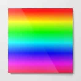 Ombre Rainbow Metal Print