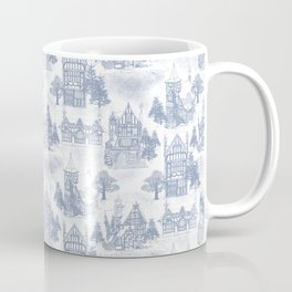 Snowy Christmas in Tudor Village(Toile) Coffee Mug