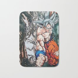 Goku mastered ultra instinct Dragonball super Bath Mat