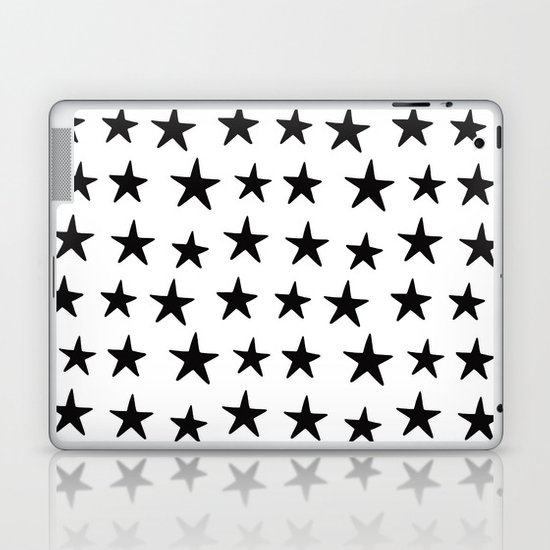 Star Pattern Black On White by dngrmouse