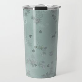 Snowflake Chrismas design Travel Mug