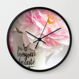bonjour beaute' Wall Clock