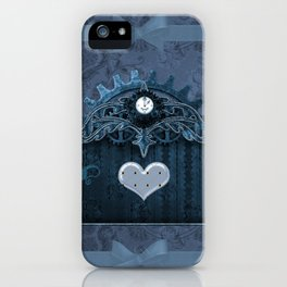 A touch of steampunk with elegant heart iPhone Case