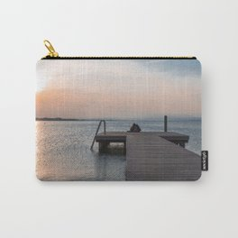 Watching the Sunset on the dock Carry-All Pouch