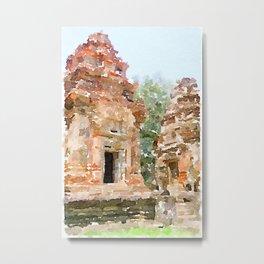 Cambodian Temple near Siem Reap Metal Print