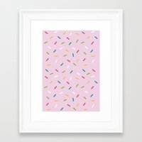 donut Framed Art Prints featuring Donut by According to Panda