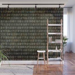 The Binary Code - Dark Grunge version Wall Mural