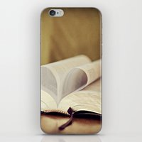 bible iPhone & iPod Skins featuring Love Bible by Vintage Rain Photography