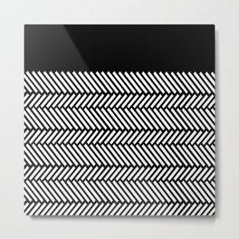 Herringbone Boarder Metal Print