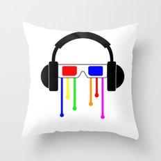 Technicolor tears  Throw Pillow