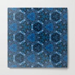 dark blue kaleidoscope Metal Print