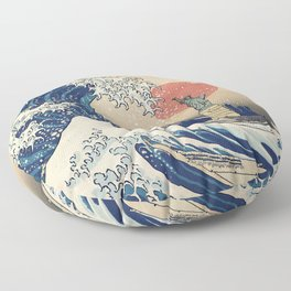 The Great Wave - New York Floor Pillow