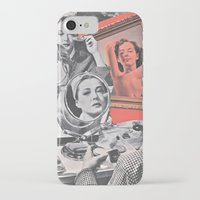persona iPhone & iPod Cases featuring Persona - collage by Deborah Stevenson Collage Art