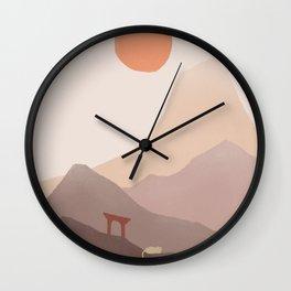 Good Morning Meow 5 - Mount of Japan Wall Clock