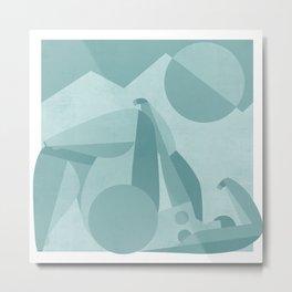 geometry girl beneath a mountain Metal Print