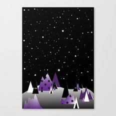Geometric Nigh Sky Canvas Print