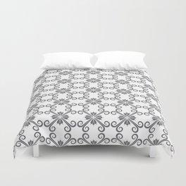 Grey Swirl Pattern Duvet Cover