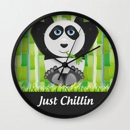Panda Chillin Wall Clock